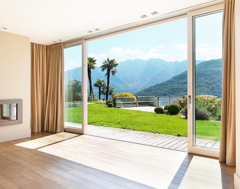 Porta finestra in alluminio-legno